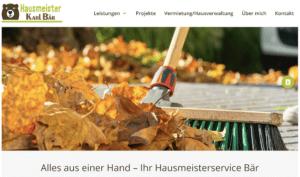 Website Hausmeisterservice Bär nacher