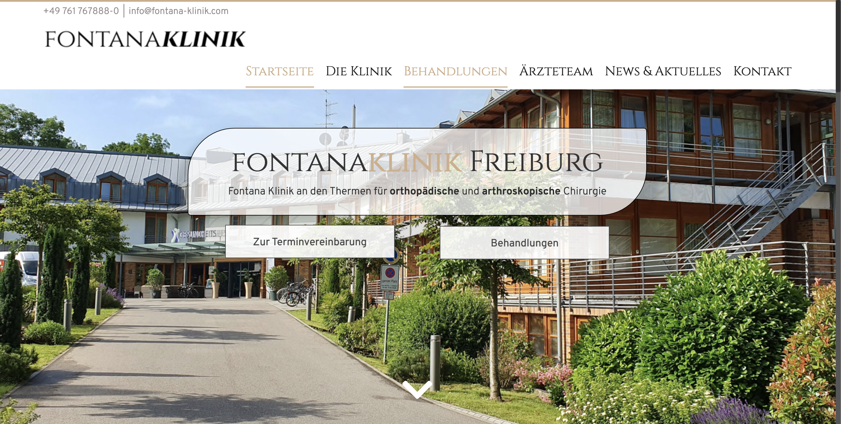 Neue Website Fontana Klinik
