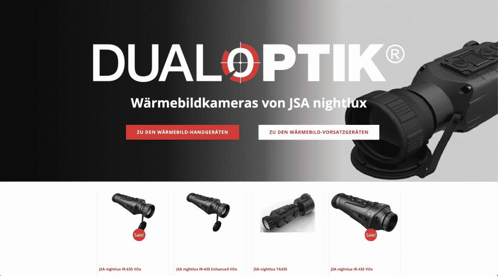 Nacherbild der Landingpage von Nightlux