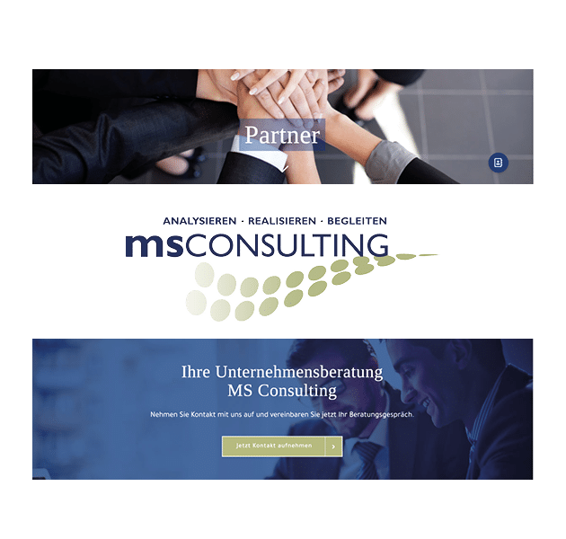 Beispiel Website MS Consulting