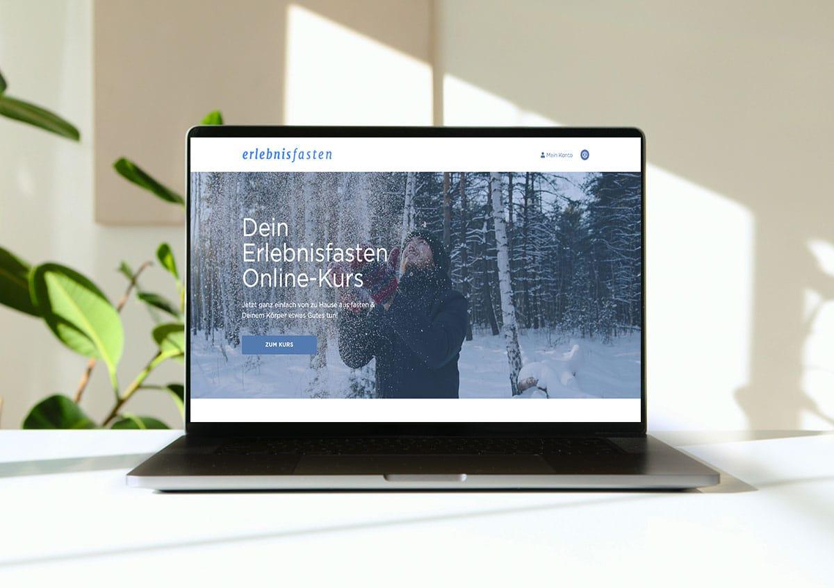 Startseite des neuen Onlinefastenkurses