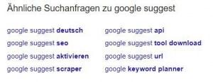 Unterstützt beim Erstellen von Evergreen Content: Google Suggest