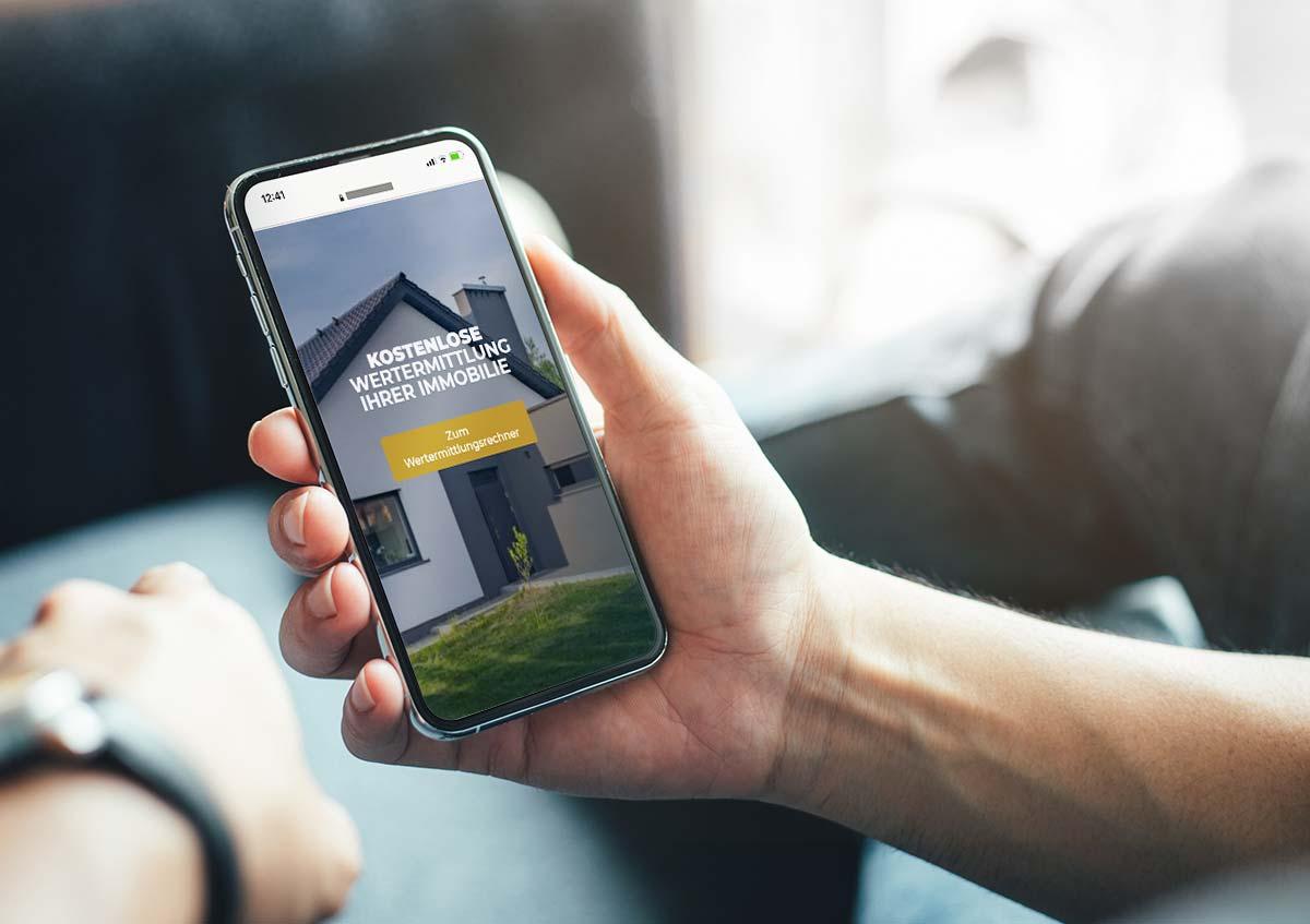 Landingpage Design für BRUMANI Immobilien