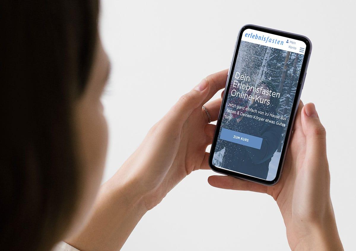 Mobile Version des Onlinefastenkurses