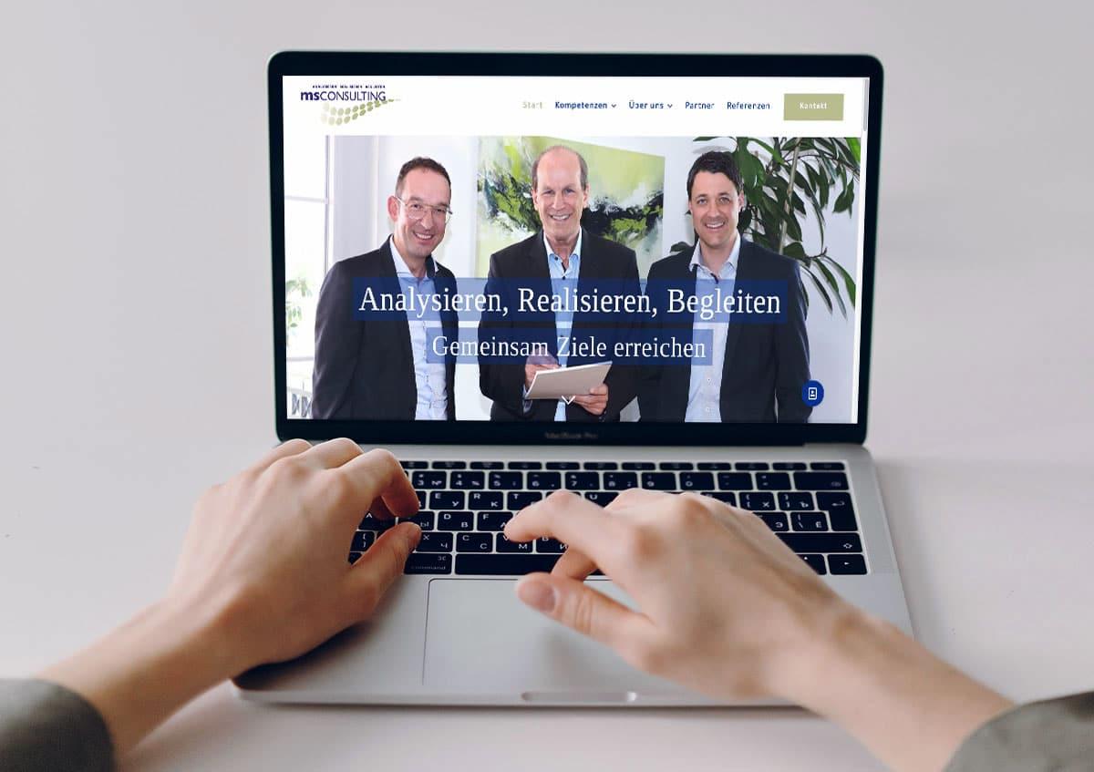 MS Consulting neue Startseite