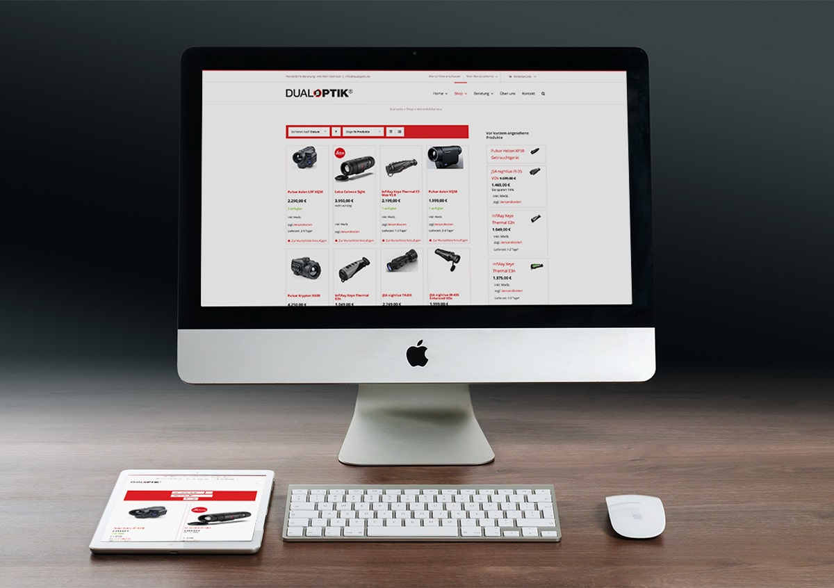 Neuer Shop für Dualoptik