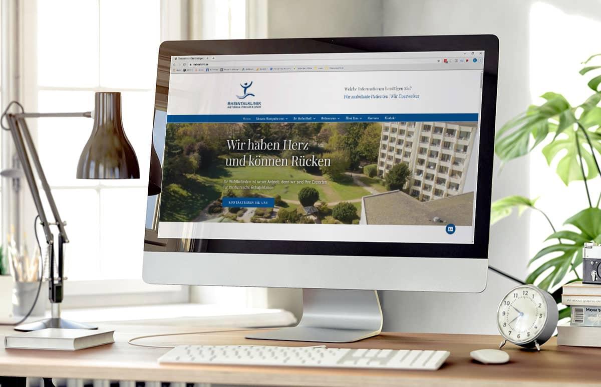 Neue Website für die Rheintalklinik