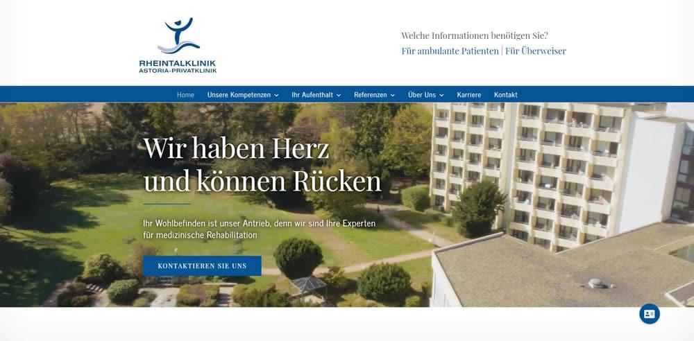 Neues Webdesign der Startseite