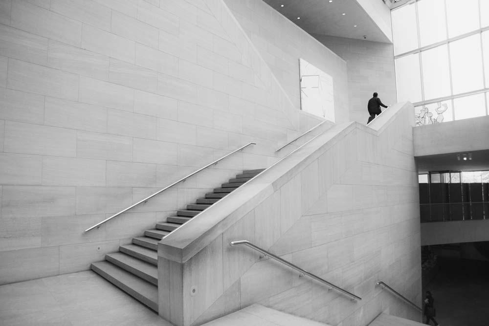 Treppen laufen statt Aufzug fahren